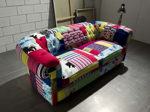 Chesterfield sofa / cotton / velvet / silk CHESTERFIELD CRAZY Divani Santambrogio