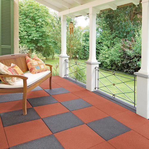 outdoor flexible tile / floor / recycled rubber / damping
