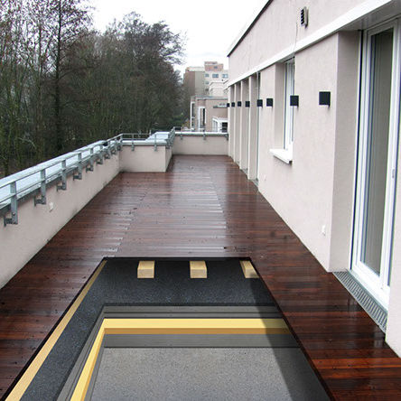 acoustic insulation / rubber / polyurethane / for flat roofs