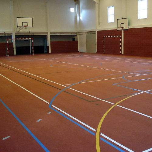 synthetic sports flooring / recycled rubber / indoor / for multipurpose gyms