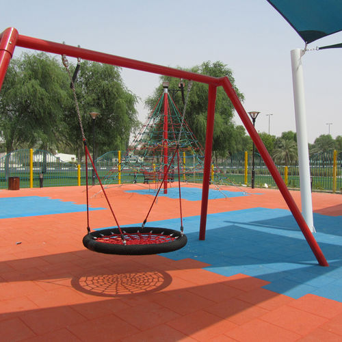 recycled rubber flooring / for playgrounds / tile / exterior