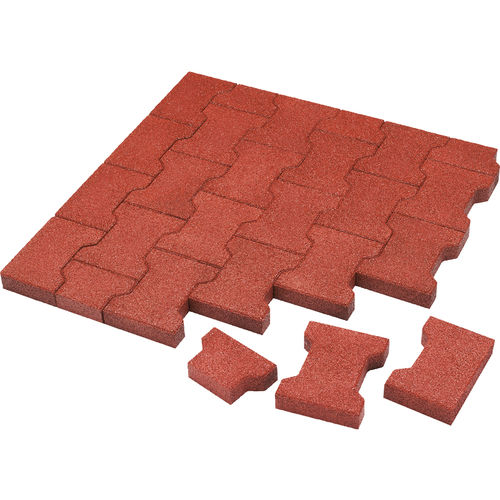 rubber paver / anti-slip / permeable / made from recycled materials