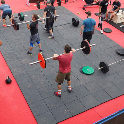 recycled rubber sports flooring / for outdoor use / indoor