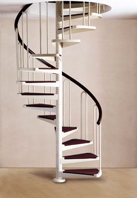 spiral staircase / without risers / contemporary / precast
