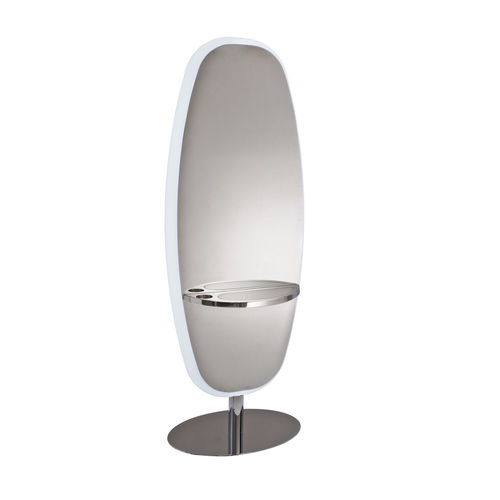 contemporary dressing table / metal / for hairdressers / backlit