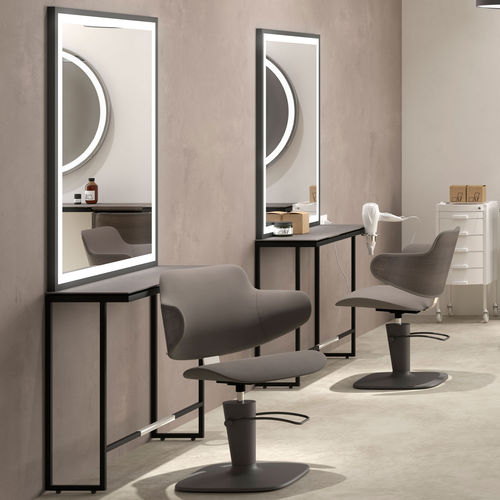 contemporary dressing table / wooden / steel / for hairdressers