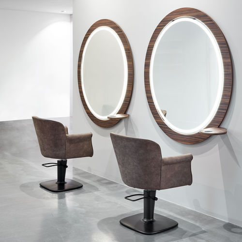 contemporary dressing table / wooden / wall-mounted / for hairdressers