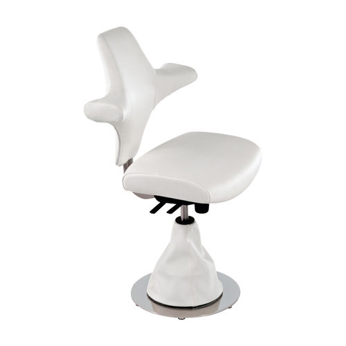 contemporary stool / leather / for beauty salons / swivel