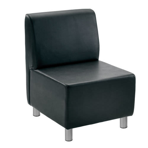 contemporary fireside chair / vinyl / commercial