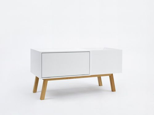 sideboard with long legs / contemporary / lacquered wood / lacquered MDF
