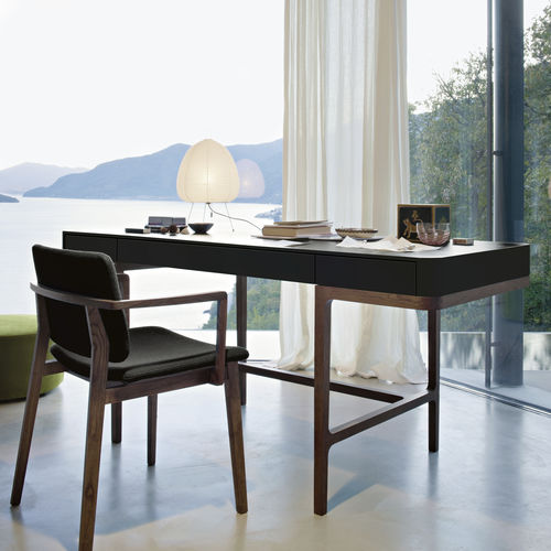 lacquered wood desk - LEMA Home