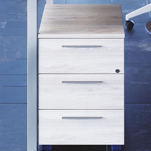 melamine office unit / 3-drawer / key type