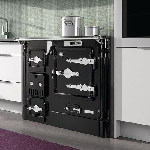 wood range cooker / for boilers / enameled