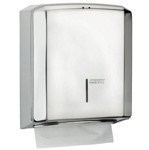wall-mounted paper towel dispenser / stainless steel