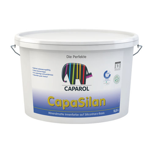 silicone resin-based paint / decorative / for walls / for ceilings