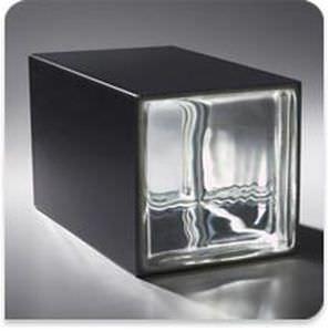square glass brick / embossed / high light transmission