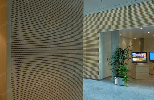 interior acoustic panel / wooden / precast / commercial