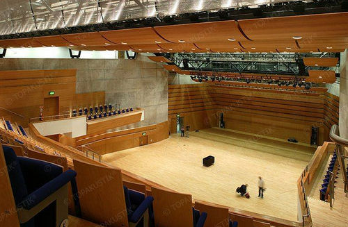 interior acoustic panel / wooden / auditorium / commercial
