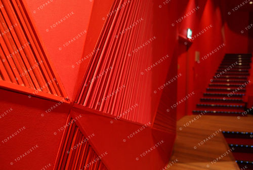 interior acoustic panel / wooden / design / commercial
