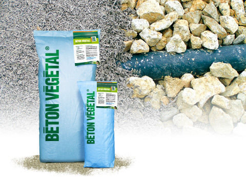 Hemp concrete / lime / insulated / for floors X BETON VEGETAL