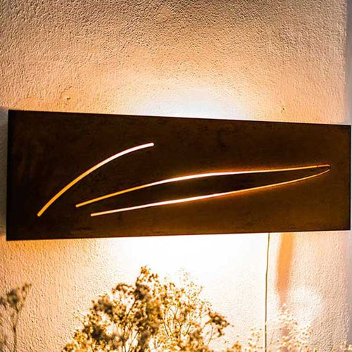 Contemporary wall light / outdoor / COR-TEN® steel / other light source HERBA Logical Space design