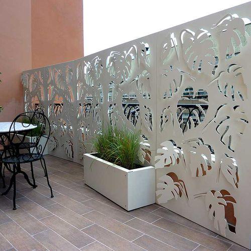 panel screening / aluminum / COR-TEN® steel / mashrabiya type