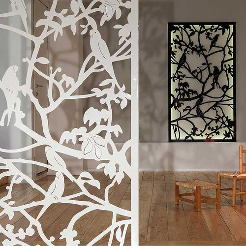 Aluminum screen wall / garden / patio / custom PARROTS  Logical Space design