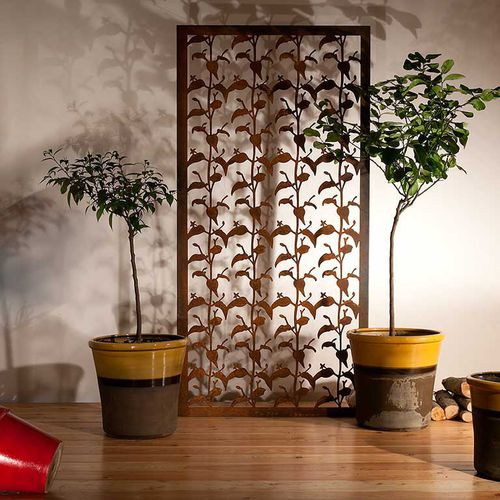 Aluminum screen wall / COR-TEN® steel / garden / patio STEMONA  Logical Space design