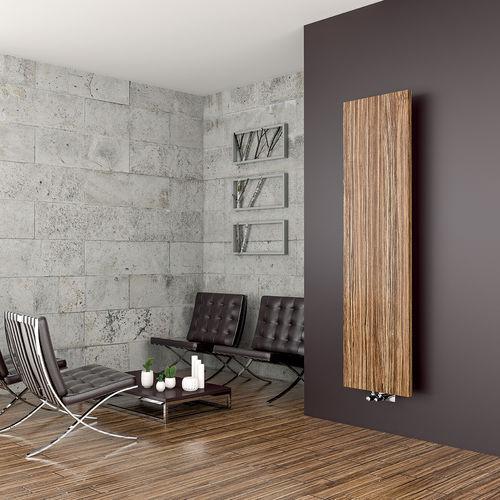 hot water radiator / metal / wooden / contemporary