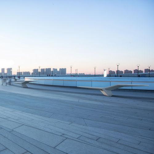 public bench / original design / high-performance concrete