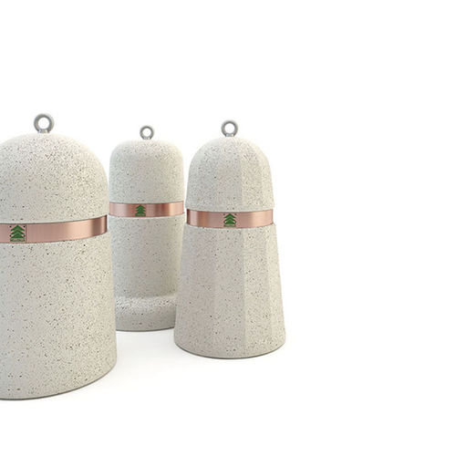 security bollard / marble / copper / stainless steel