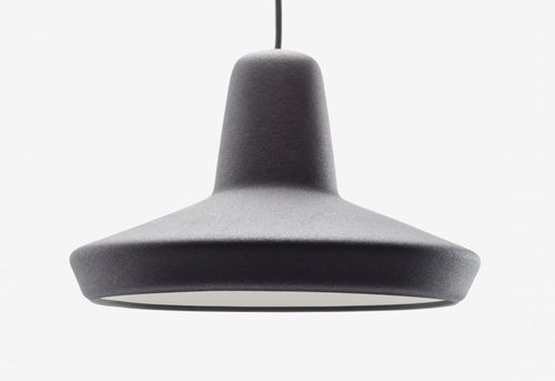 pendant lamp / contemporary / PVC / gray