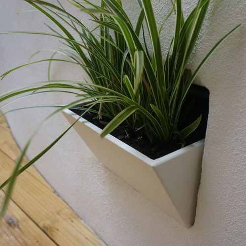 Fiber cement flower pot / wall-mounted / other shapes IRP25.20H20 - IMAGE'IN ATELIER SO GREEN