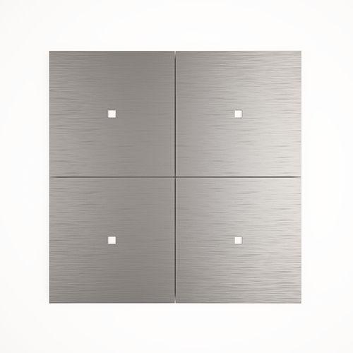 light switch / push-button / quadruple / aluminum