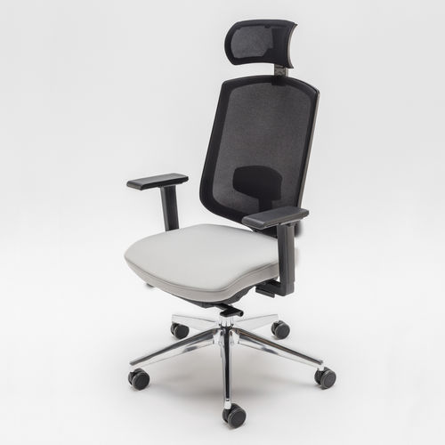 contemporary office armchair / fabric / metal / plastic