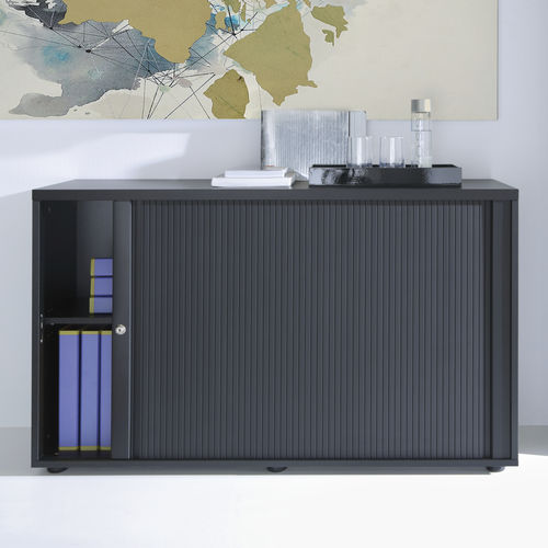 low filing cabinet / tall / wooden / metal