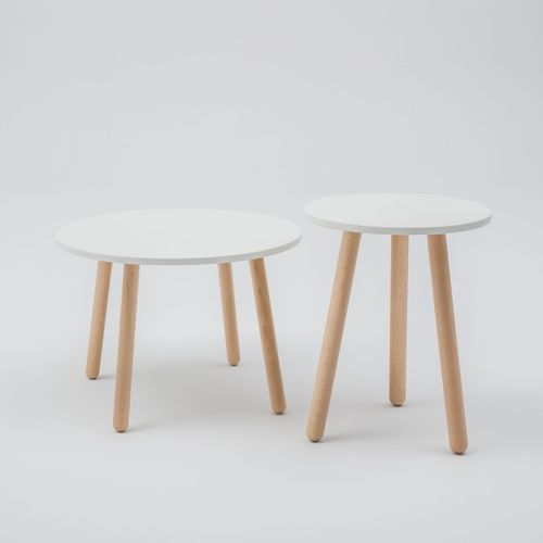 contemporary coffee table / wooden / round / commercial