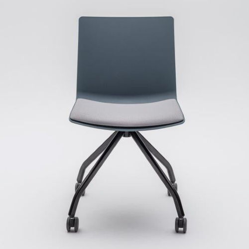 contemporary visitor chair / upholstered / on casters / star base