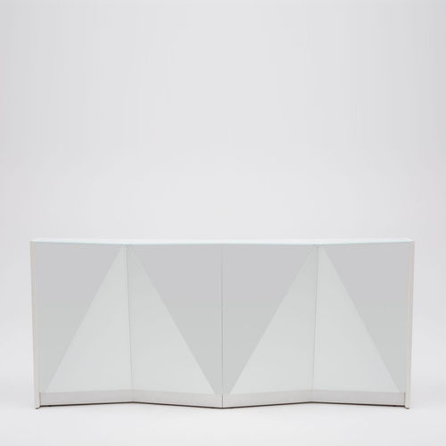 modular reception desk / glass / illuminated