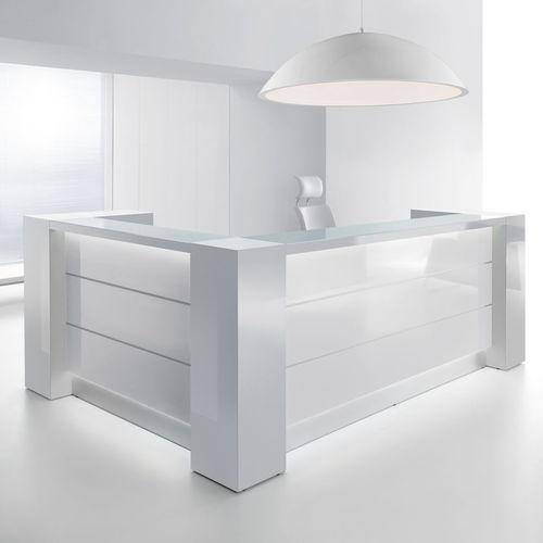 modular reception desk / corner / laminate / aluminum