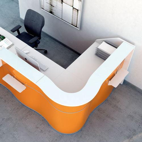 modular reception desk / semicircular / corner / laminate