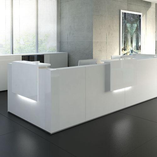 modular reception desk / corner / laminate / melamine