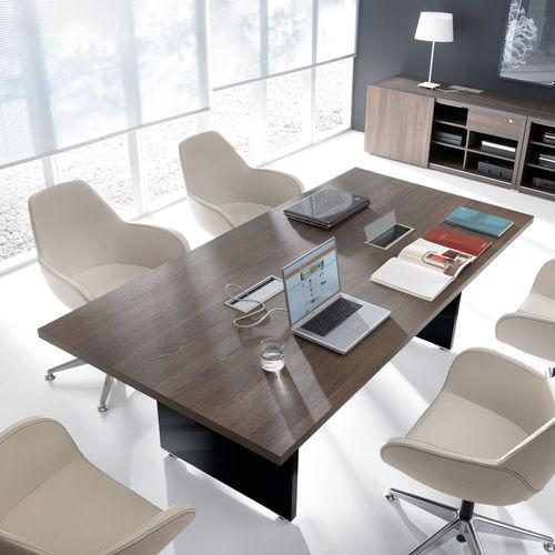 contemporary conference table / laminate / melamine / rectangular