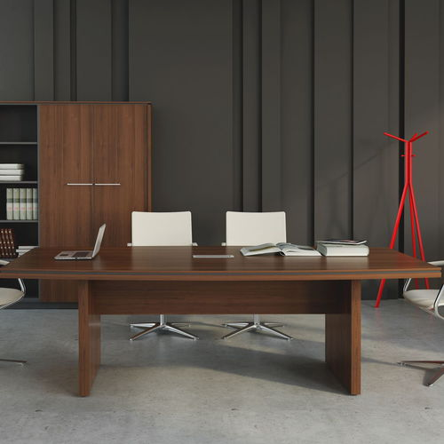 contemporary conference table / melamine / rectangular / for offices
