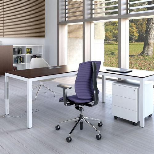 executive desk / oak / chestnut / aluminum