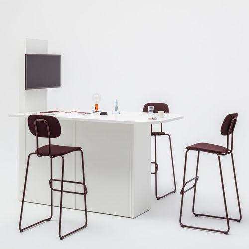multimedia desk / melamine / contemporary / commercial
