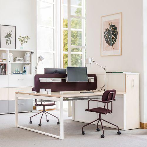 workstation desk / oak / birch / chestnut