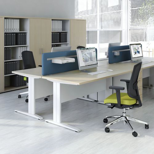 workstation desk / wooden / contemporary / commercial