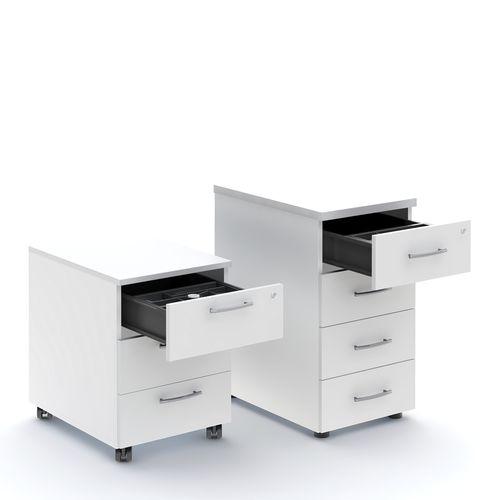 metal office unit / melamine / 3-drawer / 4-drawer