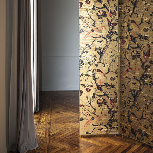 Oriental wallpaper / vinyl / animal motif / 3D effect SILKBIRD GOLD DEDAR MILANO